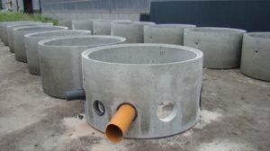 Кольца бетонного дренажного колодца