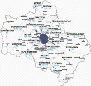 Глубина промерзания в Московской области.
