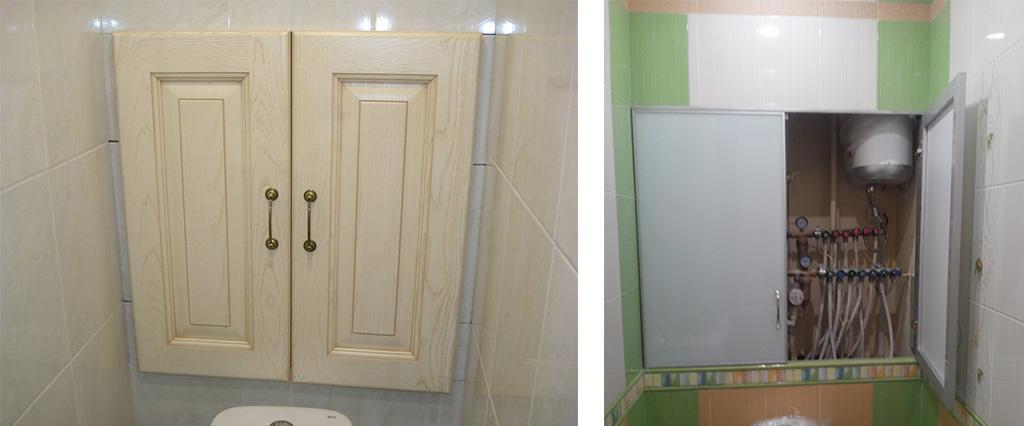 Сантехнический шкаф в туалете