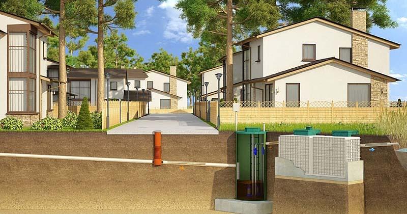 канализация посёлков