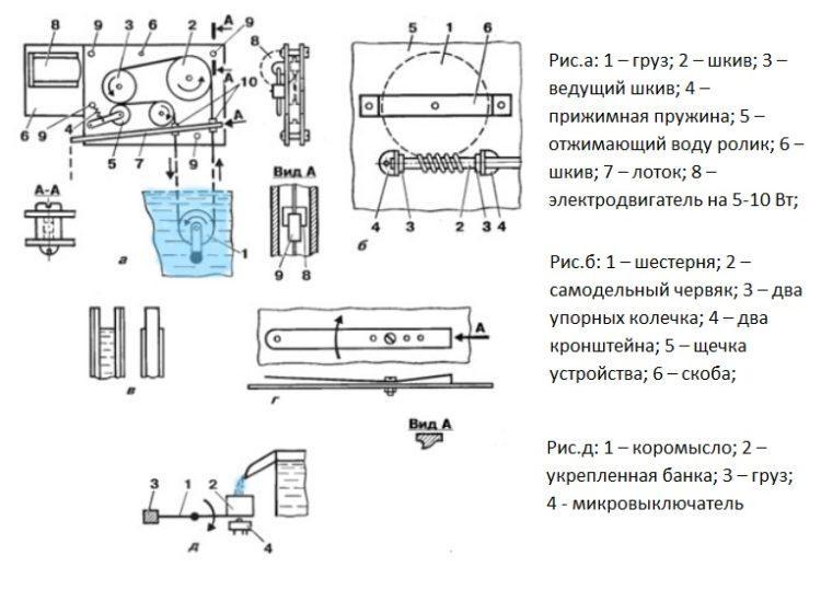 Схемы для самостоятельного сбора фитильного насоса Шухова