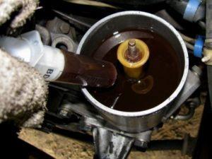 Замена масла в насосе