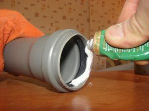 Герметизация труб силиконом
