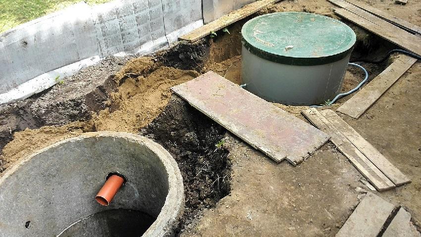 Септик без откачки из бетона