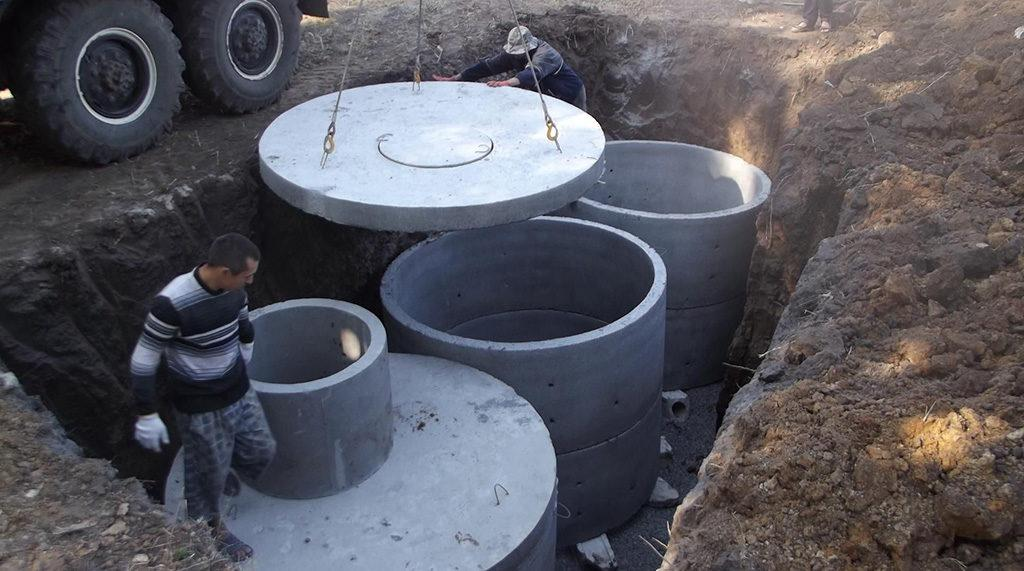 Монтаж септика из бетона