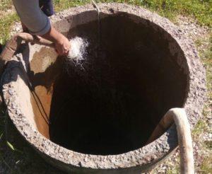 Чистка бетонного колодца