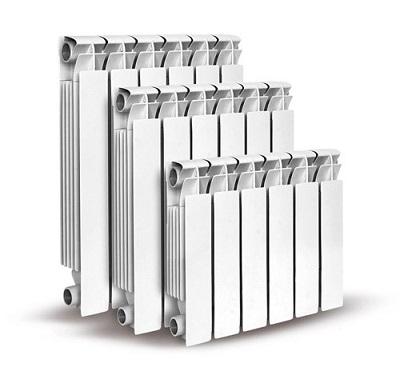 Различные размеры алюминиевых радиаторов