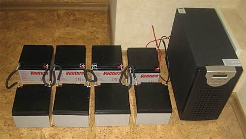 Бесперебойник для газового котла (несколько аккумуляторов)