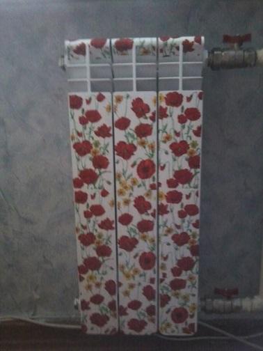 Пример декупажа радиатора