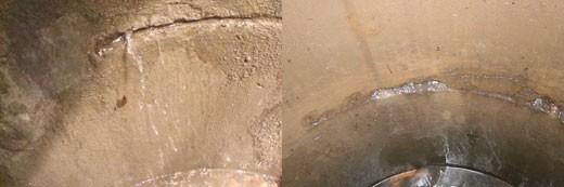 Шов пропускает грунтовую воду