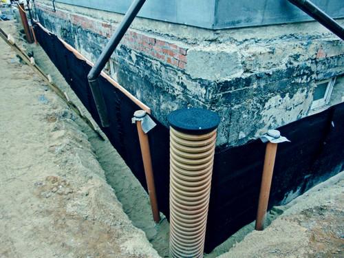 Система отвода воды от цоколя