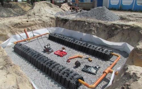 Установка дренажный тоннелей