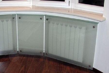 Пример стеклянных экранов