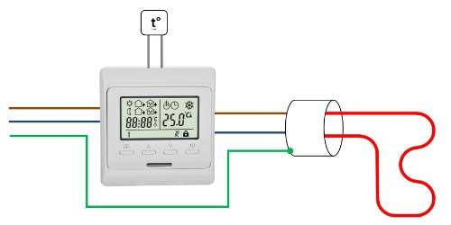 Подключение теплого пола к термостату