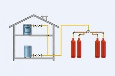 Установка газовых баллонов (схема)