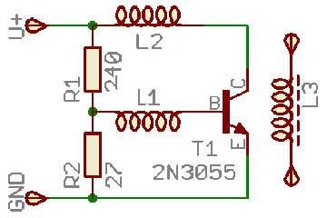 Схема генератора для индукционной печи