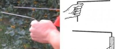 Пробное бурение с помощью самодельного инструмента