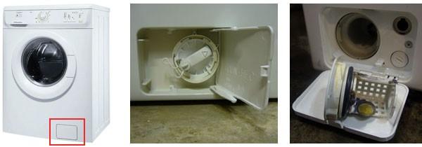 Фильтр может быть расположен на передней стенке