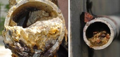 Забитая труба канализации