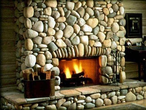 Красивый декор камина