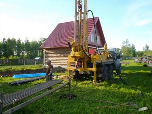 Сооружение скважины в летний период