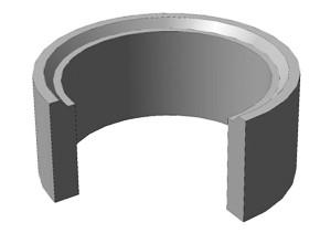 Кольцо с соединением выступ-паз
