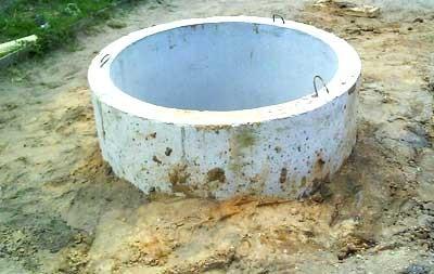 Колодец из бетона