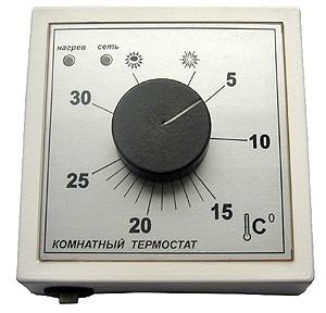 Простой вариант комнатного терморегулятора