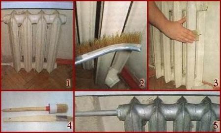 Покраска радиаторов (подготовка)