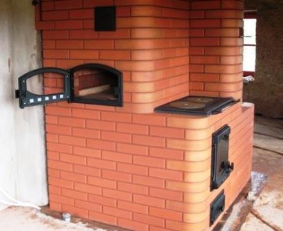 Отопительный агрегат с плитой и духовкой