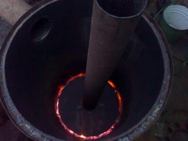 Печь горит