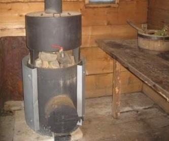 Модель печи с водогрейным баком