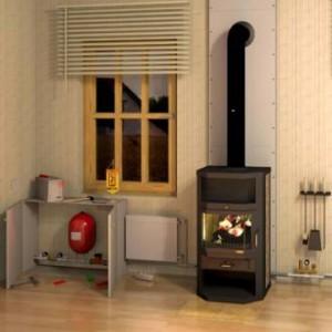 Радиаторное отопление и печь
