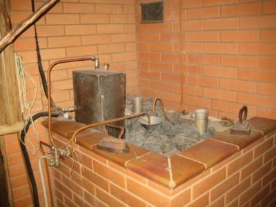 Печь для бани с каменкой