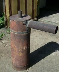 Пример печи длительного горения для гаража