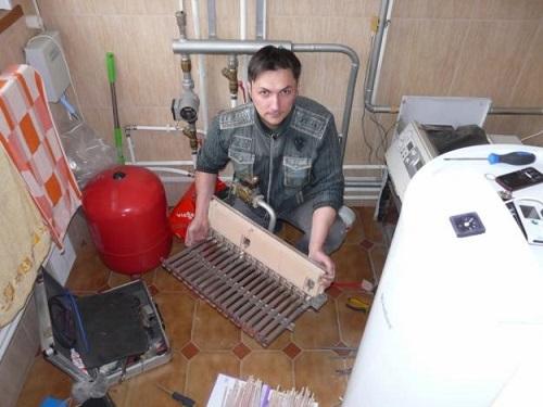 Процесс ремонта горелки