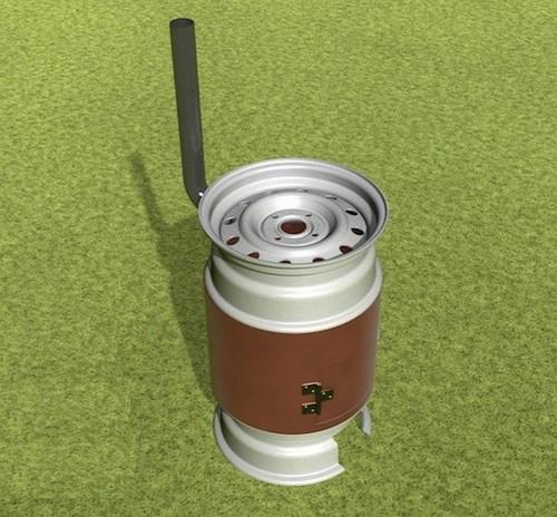 Верх и низ сделаны из дисков, а в середине использован металл