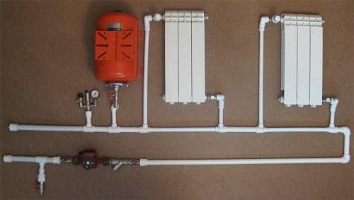 Пример однотрубной схемы отопления