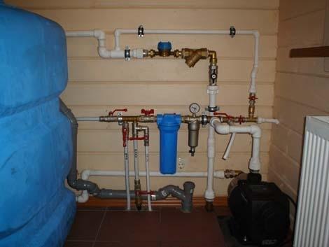 Водопровод с фильтром