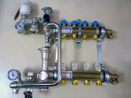 Пример смесителя с термоголовкой