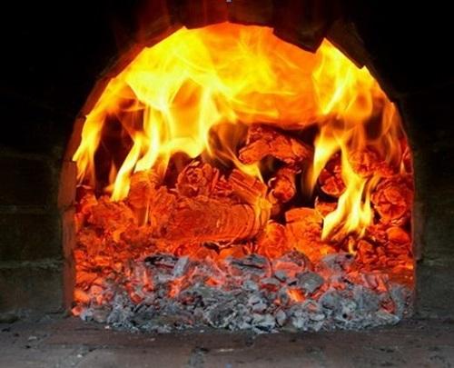 Как горят дрова