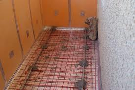 Теплый пол на балконе (готовый под заливку стяжки)