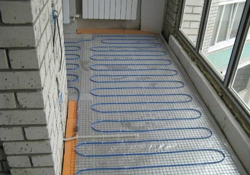 Отопление с помощью теплого пола на балконе