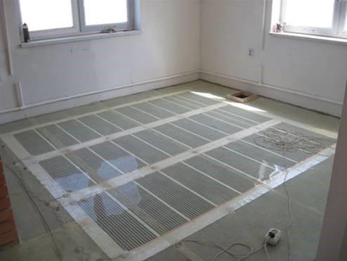Инфракрасный пол под плитку