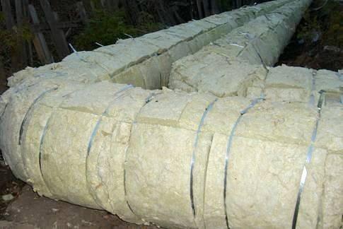 Трубы, утепленные минватой