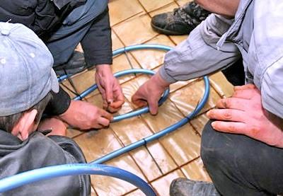 Укладка трубы для теплого пола