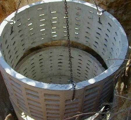 Фильтрационная яма из бетона