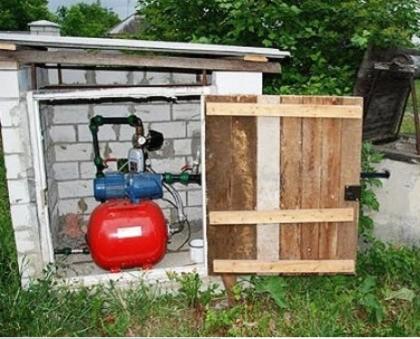Теплое помещение для установки насоса
