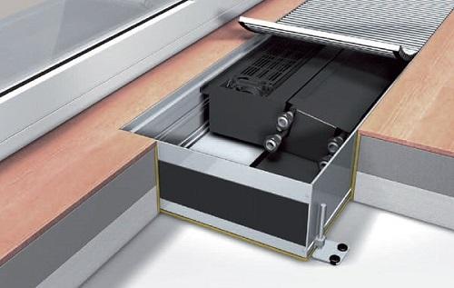 Как устроен внутрипольный радиатор