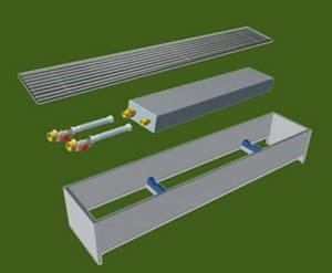 Составные части водяного конвектора